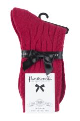 Ladies 1 Pair Pantherella Cristina Cable Knit 85% Cashmere Socks Packaging Image