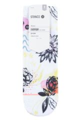 Ladies 1 Pair Stance Luster Floral Everyday Low Rider Socks Packaging Image
