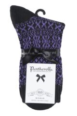Ladies 1 Pair Pantherella Faith Winter Fairisle 85% Cashmere Socks Product Shot
