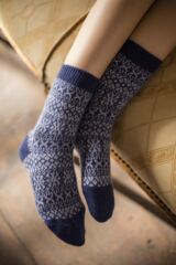 Ladies 1 Pair Pantherella Faith Winter Fairisle 85% Cashmere Socks Leading Image