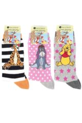 Girls 3 Pair SockShop Winnie The Pooh and Friends Socks Packaging Image