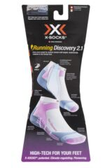 Ladies 1 Pair X-Socks Running Discovery Trainer Socks Packaging Image