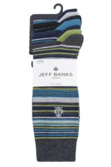 Mens 7 Pair Jeff Banks Hereford Stripes Cotton Socks Packaging Image