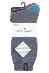 Mens 5 Pair Jeff Banks Contrast Heel and Toe Wool Mix Leisure Socks Packaging Image