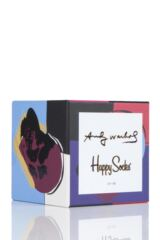 Mens and Ladies 3 Pair Happy Socks Andy Warhol Socks in Gift Box Packaging Image