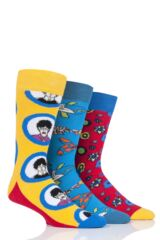 Happy Socks 3 Pair Beatles 50th Anniversary Yellow Submarine EP Collectors Gift Boxed Socks Leading Image