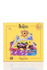 Happy Socks 3 Pair Beatles 50th Anniversary Yellow Submarine EP Collectors Gift Boxed Socks Packaging Image