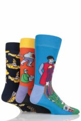 Mens and Ladies Happy Socks The Beatles Yellow Submarine EP Collector's Cotton Socks Gift Box Leading Image