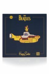 Mens and Ladies Happy Socks The Beatles Yellow Submarine EP Collector's Cotton Socks Gift Box Product Shot