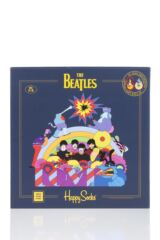 Happy Socks 6 Pair Beatles 50th Anniversary Yellow Submarine LP Collectors Gift Boxed Socks Packaging Image