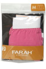 Mens 1 Pair Farah Vintage Plain Candy Keyhole Trunks With White Waistband Product Shot