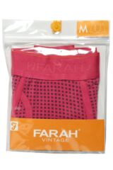 Mens 1 Pair Farah Vintage Printed Keyhole Trunks In Pink Packaging Image