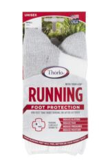 Ladies 1 Pair Thorlos Running Crew Socks with Thick Cushion Packaging Image