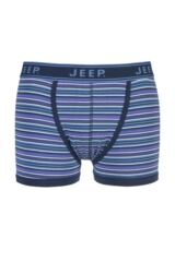 Mens 1 Pair Jeep Spirit Cotton Fine Stripe Trunks In Blue