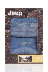 Mens 2 Pack Jeep Wide Stripe and Plain Hipster Trunks Product Shot