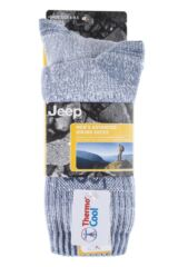Mens 2 Pair Jeep Medium Weight Thermo Cool Terrain Socks Packaging Image