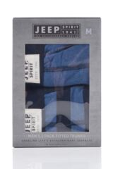 Mens 2 Pack Jeep Spirit Front Badge Plain and Block Striped Trunks Packaging Image