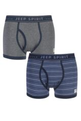 Mens 2 Pack Jeep Spirit Jacquard Waistband Keyhole Trunks