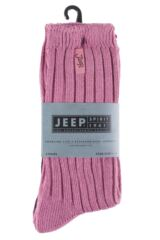 Ladies 3 Pair Jeep Spirit Ribbed Cotton Socks Product Shot