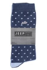 Ladies 3 Pair Jeep Spirit Mixed Spots and Dots Cotton Socks Product Shot