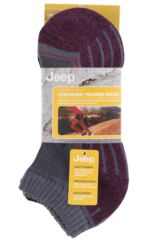 Ladies 3 Pair Jeep Cushioned Cotton Trainer Socks Packaging Image