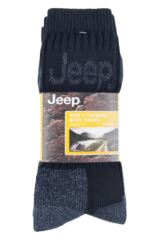 Mens 3 Pair Jeep Luxury Terrain Socks Packaging Image