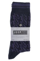 Mens 2 Pair Jeep Spirit Eagle Pattern Wool Mix Socks Packaging Image