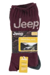 Mens 3 Pair Jeep Ribbed Cotton Boot Socks Packaging Image