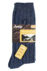 Mens 2 Pair Jeep Wool Blend Ribbed Boot Socks Packaging Image