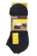 Mens 3 Pair Jeep Cushioned Cotton Trainer Socks Product Shot