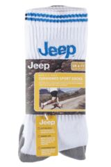 Mens 3 Pair Jeep Classic Cotton Sports Socks Product Shot