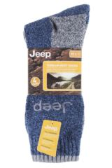 Mens 4 Pair Jeep Performance Boot Socks Product Shot