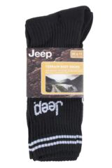 Mens 3 Pair Jeep Leisure Boot Socks Packaging Image