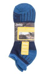 Mens 3 Pair Jeep Trainer Socks Packaging Image