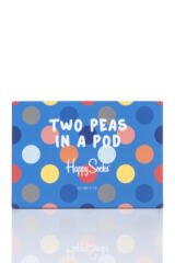 Parent and Baby 2 Pair Happy Socks Matching Two Peas in a Pod Big Dot Socks in Gift Box Product Shot