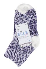 Girls 2 Pair Elle Cosy Bed and Slipper Socks Packaging Image
