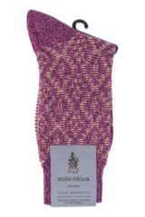 Ladies 1 Pair Scott Nichol Tatton Cable Stitch Wool Socks Packaging Image