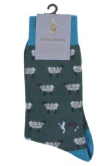 Mens 1 Pair Scott Nichol All Over Sheep Cotton Socks Packaging Image
