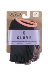 Mens and Ladies 1 Pair ToeSox Yoga Half Finger Grip Gloves Packaging Image
