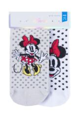 Boys and Girls 2 Pair Tavi Noir with Disney Tiny Soles Minnie Gripper Socks Packaging Image