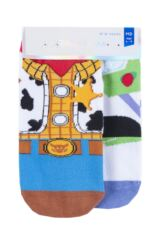 Boys and Girls 2 Pair Tavi Noir with Disney Tiny Soles Toy Story Gripper Socks Packaging Image