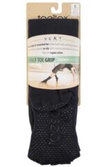 Ladies 1 Pair ToeSox Scrunch Half Toe Organic Cotton Knee High Socks Product Shot