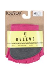 Ladies 1 Pair ToeSox Releve Half Toe Open Foot Dance Ballet Socks Packaging Image