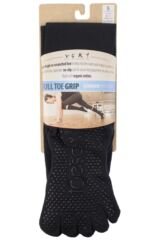 Ladies 1 Pair ToeSox Scrunch Full Toe Organic Cotton Knee High Socks Product Shot