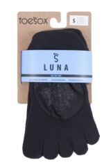 Ladies 1 Pair ToeSox Full Toe Organic Cotton Luna Mesh Socks Packaging Image