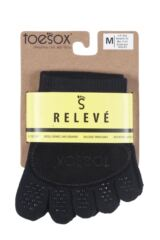Ladies 1 Pair ToeSox Releve Full Toe Open Foot Dance Ballet Socks Packaging Image