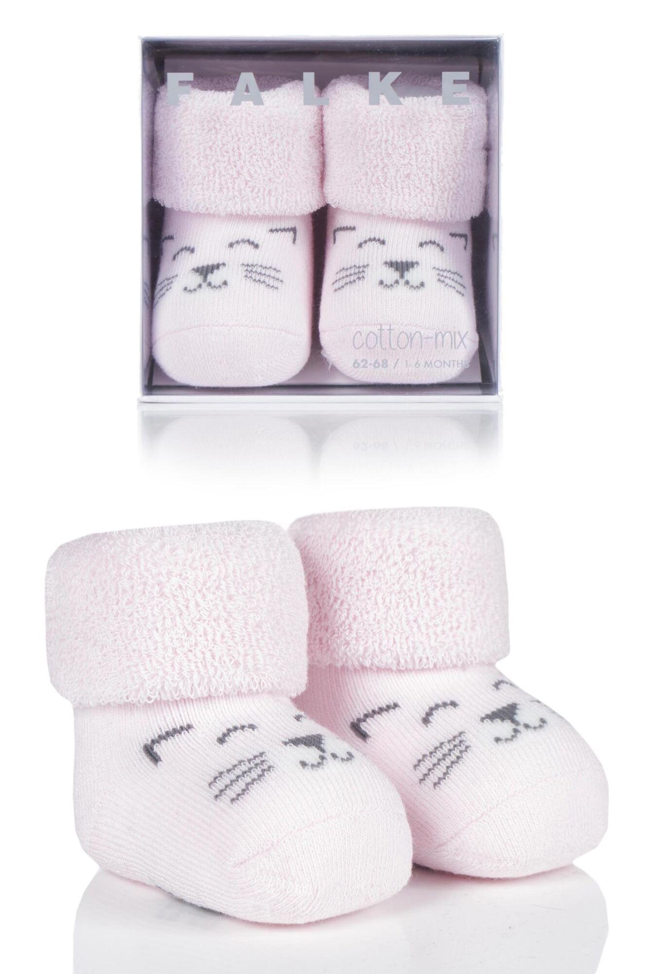1 Pair Baby Bear And Baby Cat Cotton Socks Kids Unisex - Falke