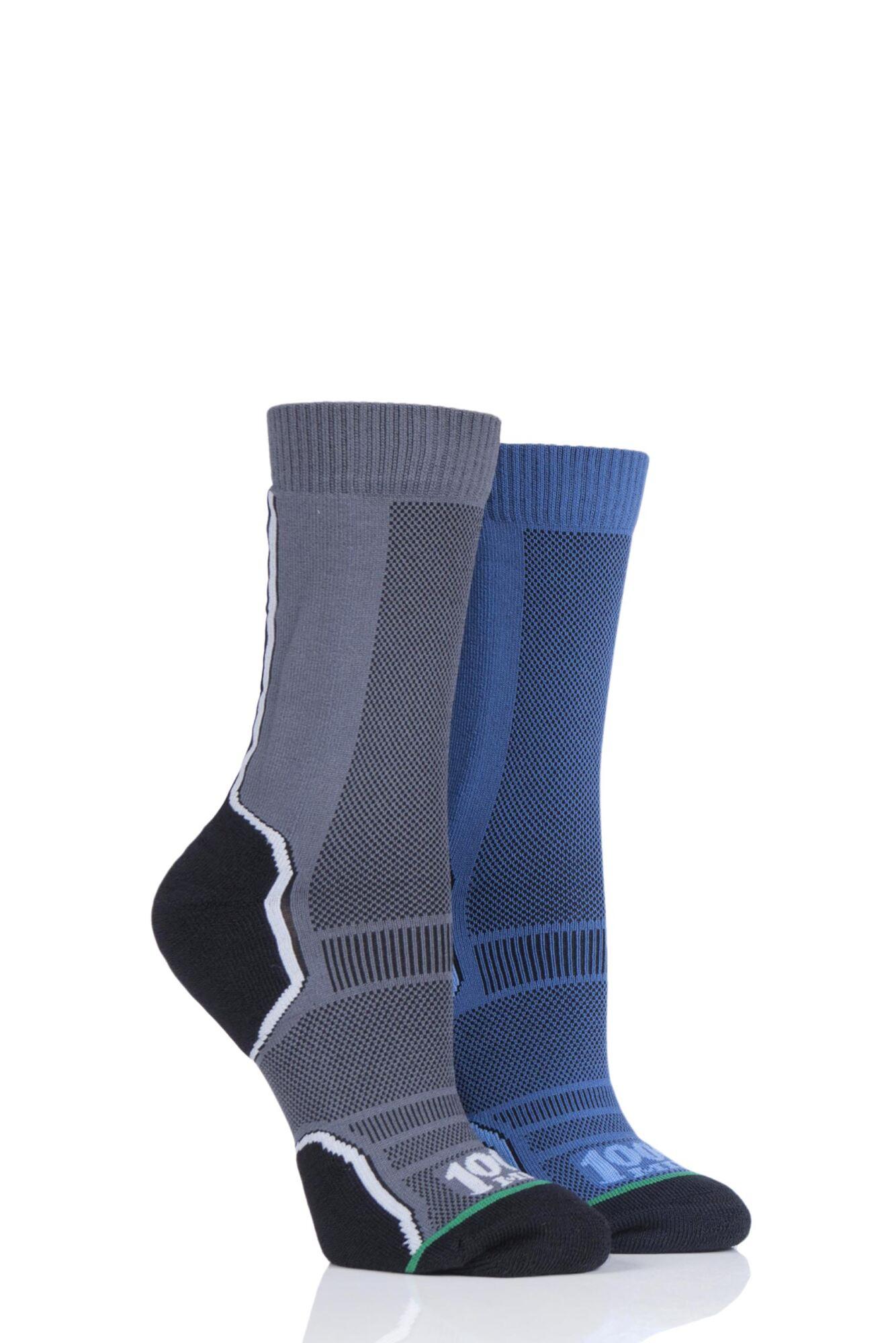 2 Pair Trek Socks Unisex - 1000 Mile