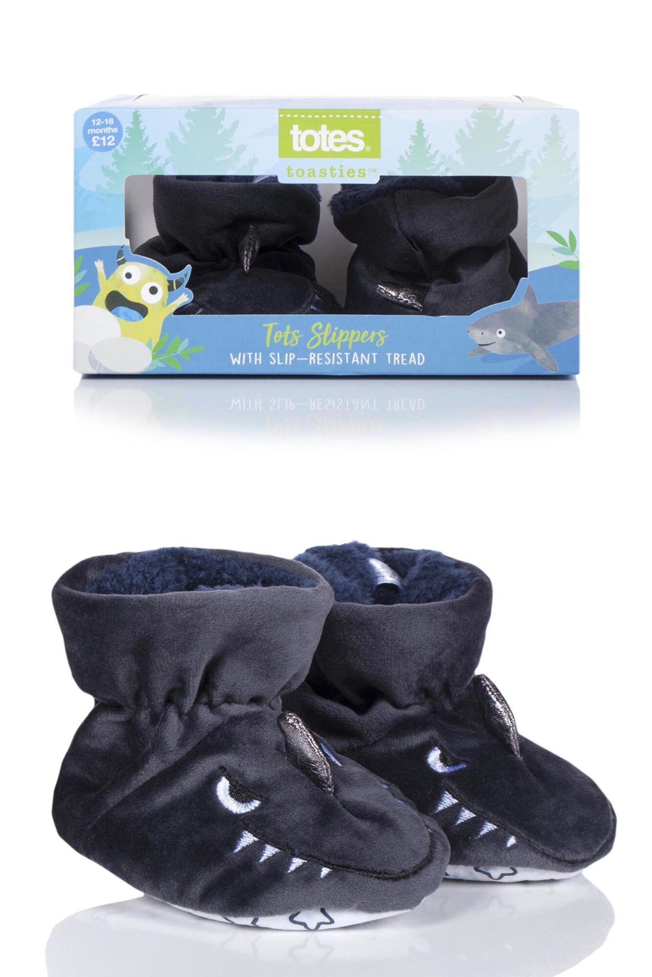 1 Pair Animal Padders Slipper Socks Boys - Totes