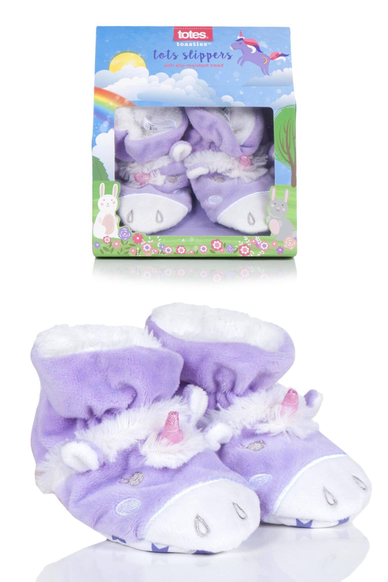 1 Pair Animal Padders Slipper Socks Girls - Totes
